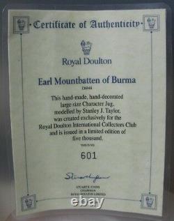 Royal Doulton Earl Mountbatten Of Burma-caracter Jug Limited Edition D6944