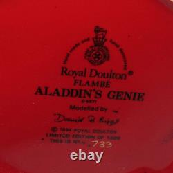 Royal Doulton Flambe Edition Limitée Character Jug D6971 Aladdins Genie