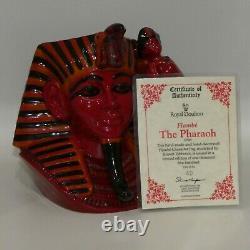 Royal Doulton Grand Livre De Caractère Edition Limitée Le Pharaon D7028 Flambe