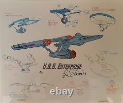 Star Trek 30th Anniversary Edition Limitée Cel Enterprise Signé Par Lou Scheimer
