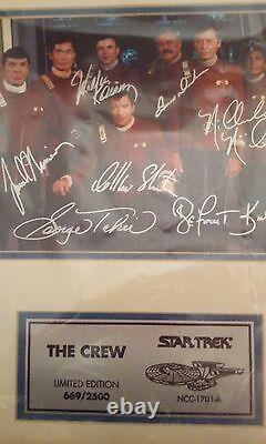 Star Trek A Chanté La Photo #669-2500 Édition Limitée Avec Cert. D'authenticité