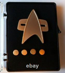 Star Trek Ds9 Communicator Rank Pin Set (matt) Captain Limited Edition Neu