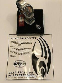 Star Trek Fossil Locutus Of Borg Wrist Watch 1996 Mib Coa Limited Edition Mint