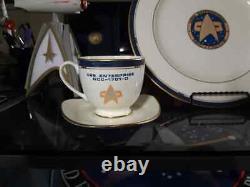 Star Trek Pfaltzgraff Uss Enterprise 1701-d Bone Chine 3 Pièces Buffet Set Nib