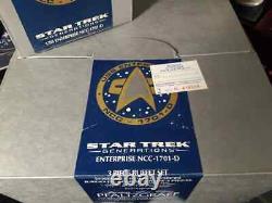 Star Trek Pfaltzgraff Uss Enterprise 1701-d Buffet Set Et Bone China Cup Nib