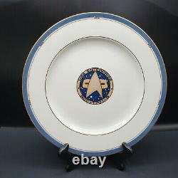 Star Trek Pfaltzgraff Uss Enterprise 1701-d Dinner Plate Edition Limitée # 2559