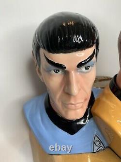 Star Trek Spock & Captain Kirk Cookie Jar Edition Limitée 95/1000 Treasure Craft