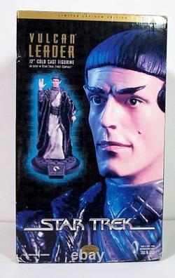Star Trek Vulcan Leader Edition Limitée Cold Cast Resin Statue Playmates Rare