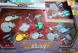Très Rare 1995 Star Trek Micro Machines Special Limited Edition II Set. Galoob