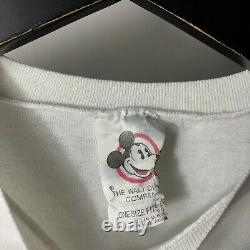 Vintage Mickey Mouse Un Personnage Coloré 90s Disney T Shirt Unique Maille