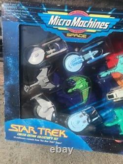Vintage Star Trek Edition Limitée Ensemble Collector De 16 Micro Machines Non Ouvert