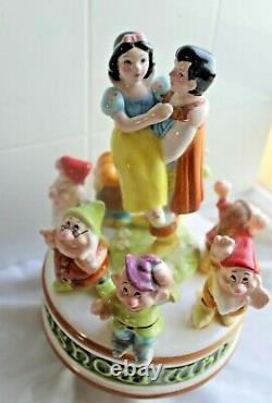 Walt Disney Personnages Schmid Music Edition Limitée Snow White & Seven Dwarfs